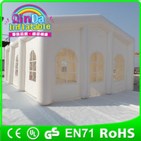 Wholesale Guangzhou Qin Da Inflatable outdoor tent for wedding party show exhibition Huge commercial inflatable tent