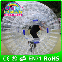 Cheap Guangzhou QinDa Inflatable human sized hamster ball walk on water roller water rolling ball
