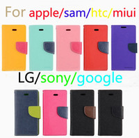 Wholesale For Samsung Galaxy S7 S7 Edge Korean MERCURY Goospery Double Color Leather Flip Case Cover For Iphone s Galaxy Note S6