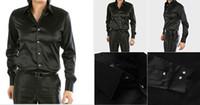 Casual Men Denim New Arrival EUR-USA Style Elastic Silk like Satin Bridegroom Shirt Men Wedding Prom Groom Shirts 21 Colors 6 Sizes(S M L XL XXL XXXL) J169