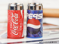 Wholesale Back to School for Kids Novelty Stationery Red and Blue Bottle Pencil Sharpener amp Eraser Kids Prize Retail Cartoon Coke Cans Style