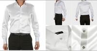 Casual Men Denim Fashionable EUR-USA Style Elastic Silk like Satin Bridegroom Shirt Men Wedding Prom Groom Shirts 21 Colors 6 Sizes(S M L XL XXL XXXL) J172