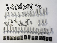 Wholesale 1 Set Motorcycle Fairing Screw Bolts For Yamaha YZF R1 YZF R1 YZFR1 Silver Black