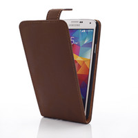Wholesale 1PCS Sample Mobile Phone Retro Luxury Genuine leather Case for Samsung Galaxy S5 SV I9600 Flip Cover with Belt China Post Free drop Shipping