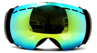 Wholesale New genuine brand ski goggles double lens anti fog big spherical professional ski glasses unisex multicolor snow goggles NCE55