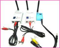 Wholesale CH Wireless mw CCTV Video Audio Transmitter w Receiver Antenna