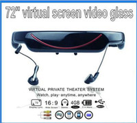 Wholesale quot Virtual Screen D Video Glasses Cinema Eyewear Mobile Theatre Movie FILM video glassesbuilt in GB flash memory