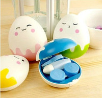 Wholesale CM New Sweet Egg Series Contact Lenses Box Case Contact lens Case Promotional Gift