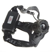 Wholesale 1200 Lumen CREE XML T6 Zoom LED Headlight Headlamp Zoomable Adjustable Focus LEG_535