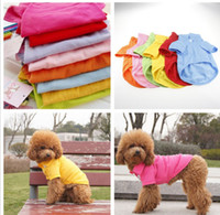 Wholesale Dog Apparel dog supplies Dogs t shirt pet dog t shirt Teddy dog pets clothes
