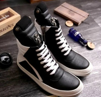 Slip-On Men Spring and Fall Crow core explosion models with models handsome L Koo original explosion domineering full leather high top shoes men tide shoes