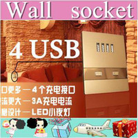 Wholesale 50pcs USB charging wall socket dormitory dedicated outlet outlet station airport ma