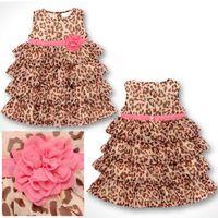 Wholesale Bear Leader Vestidos Fashion Summer Baby Girl s Leopard Print Dress Cute Children s Dresses Children s Clothing New K9088
