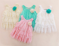 TuTu Summer Pleated 2014 New Girls Cute Lace Dresses Suspender Dress Layered Dress Fashion Princess Dresses Baby Summer Dress Tiered Dresses Kids Clothing Melee