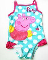 One-piece baby bathers - Baby Girls Swimwear Cartoon Polka Dots One Piece Swimsuit Bathers Children Swimming Costume Bath Swimmer p l