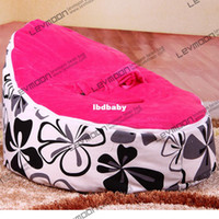 Wholesale Fashion Baby Bean Bag Sofa Bed Covers Lounge Chair Include Two Upper Layers Kids Furniture Retail And