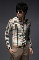 Wholesale Men s Fashion Luxury Stylish Casual Designer Dress Shirt Cultivate one s morality long sleeve shirt CS13