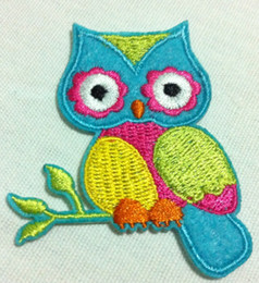 Wholesales~10 Pieces Cartoon Owl (5 x 6 cm) Animals Patch Embroidered Applique Iron on Patch (HR)