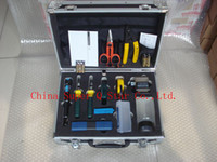 Wholesale Brand New FTTH Tools KIT Fiber Optic Fast Connector TOOLS Optical Power Meter Optic Fiber Cleaver Visual Fault Locater