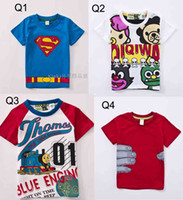 2014 New Children T- shirt boys Tees Short sleeve shirts Summ...