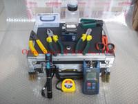 Wholesale FTTH Tools KIT Fiber Optic Fast Connector Optical Power Meter FC S Optical Fiber Cleaver WM Visual Fault Locater