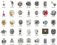 Wholesale Mixed style Silver Beads charm Pandora Big Hole Loose Beads charms DIY Jewelry Bracelet For European Alloy Love