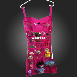 Hanging night evening dress corset Jewellery Organiser Double Sided storage hanger bag Make-up Wardrobe sexy bags