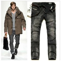 Wholesale New Hole Straight Snowflake Wash jeans men jeans