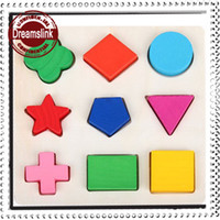 Wood baby play blocks - Wooden Shapes Plate Colorful Play Building Blocks Baby Educational Toy Bricks above M