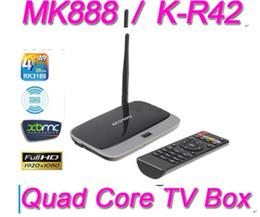 Promotion mini boîte hd MK888 (K-R42 / CS918) Boîte TV Android 4.2 RK3188 Quad Core Mini PC RJ-45 XBMC Smart TV Lecteur multimédia Télécommande 945