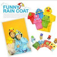 Wholesale Children Clothes Retail Children s Animal Model Raincoat Kids Rain Coat Boy s Girls Rain cape Waterproof Coats