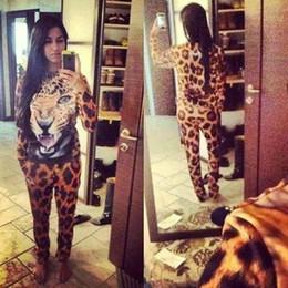 Wholesale New Winter Women Animal Leopard Tiger D Print Sport Hoodie Sportswear Sweatshirt Set shirt pants