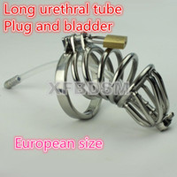 Unisex Item specifics Best Male Chastity Belt Metal Cock Cage Device for Man Male Chastity Belt Stainless steel Penis Urethral Sounds With Spike ring