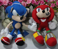 Wholesale Sonic Sonic the Hedgehog game beautifully plush doll Q version of the blue red Sonic CM dandys