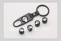 Wholesale Pieces set car logo New Black High Quality For ALPINA Car Wheel Tyre Tire Stem Air Valve Caps