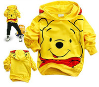 Wholesale Children Clothes Children s Hoodies hot cotton Cartoon bear childrens clothing boy s girl s top shirts Hooded Sweater hoodie