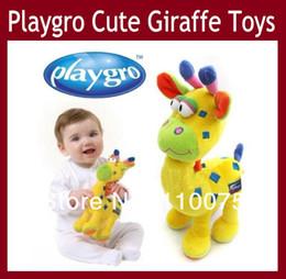 Wholesale Super Cute Australia Playgro Giraffe Rattles Plush Toy Baby Soft Plush Stuffed Animal Developmental amp Educational Activity Toys