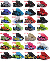 Wholesale 2014 Hot New Men s Salomon Speedcross Athletic Running Sports Man Shoes Outdoor Solomon Trail Racing Shoes