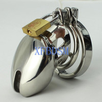 Unisex Item specifics Male Chastity Device Male Chastity belt Stainless Steel Cock Cage For Man Metal Bondage Device with Spike Ring