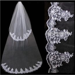 Wholesale Lace Layer Veils Have Comb Veils White Ivory Wedding Veils Bridal Veils