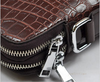 Wholesale Men s Vertical Crocodile Briefcase Diagonal Package Business Bag Pieces Factory Supply