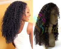 Afro Kinky curl baby afro - Jinde direct factory quot quot gluless lace front afro kinky curly lace front wig with baby hair Indian remy human hair