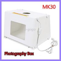 Kits photo equipment - 110V V Professional quot x8 quot Mini Photo Photography Light Box Studio Equipment Softbox SANOTO MK30 MK30 mini Photo Studio