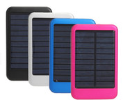 Wholesale 5000 mAh solar mobile power mobile charger solar cell phone charger Universal Charging
