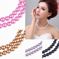 Pearl loose faux pearls - Charms mm Faux Pearl Vogue Glass Pearl Spacer Loose Beads For Necklace Bracelet Making Jewelry Colors Choose BDA