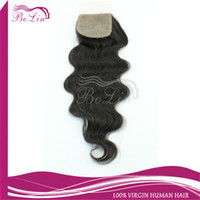 Brazilian Hair Natural Color Body Wave Silk Base Closure Middle Part Free Part 5A Virgin Brazilian Body Wave hair 1pcs