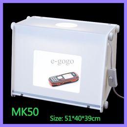 """Éclairage de la rampe à vendre-110V-250V 20""""x16"""" MK50 Portable Mini Lumière Booms Photo Studio de Photographie Boîte à Lumière Softbox 510 * 400 * 390mm"""