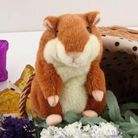 achat en gros de hamster jouet enfant-Russe original Talking Hamster Pet Speaking hamster Répétez la souris ElectronicInteractive Peluches des jouets en peluche Meilleur cadeau des enfants wu