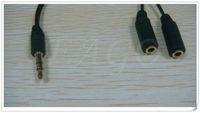 Earphone Adapter audio splitters - Headphones cord mm Headphone earphone splitter adapter Cable Jack audio cable Headset Line Splitters for Adapter DHL FREE