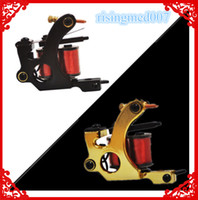 Wholesale 2014 New Tattoo Machine Gun Shader Liner Wrap Coils Black Gold